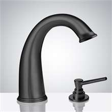 Fontana Commercial Dark Oil Rubbed Bronze Touchless Automatic Sensor Faucet & Manual Soap Dispenser