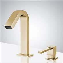 Fontana Commercial Brushed Gold Touch less Automatic Sensor Faucet & Manual Soap Dispenser