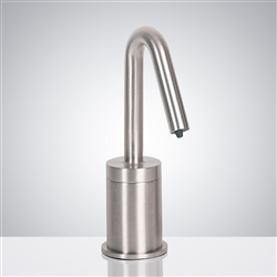 Fontana Milan Commercial Brushed Chrome Touchless Automatic Liquid Soap Dispenser