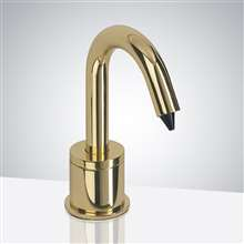 "Versailles Automatic Deck Mount With 2"" Riser Polish Gold Soap Dispenser"