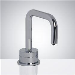 Fontana Trio Commercial Polished Chrome Deck Mount Automatic Touch Free Soap Dispenser