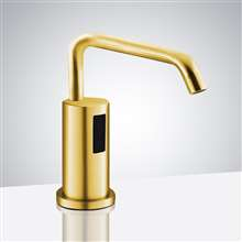 Fontana Gold Leo Automatic Soap Dispenser - Deck Mounted Commercial Liquid Foam Soap Dispenser