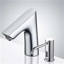 Fontana Cholet Chrome Finish Motion Sensor Faucet & Automatic Soap Dispenser for Restrooms