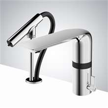 Fontana Verona Chrome Finish Motion Sensor Faucet & Automatic Soap Dispenser for Restrooms