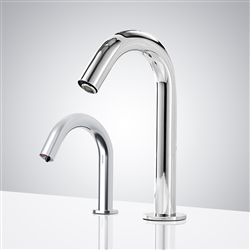 Fontana Bollnäs Motion Sensor Faucet & Automatic Soap Dispenser for Restrooms in Chrome