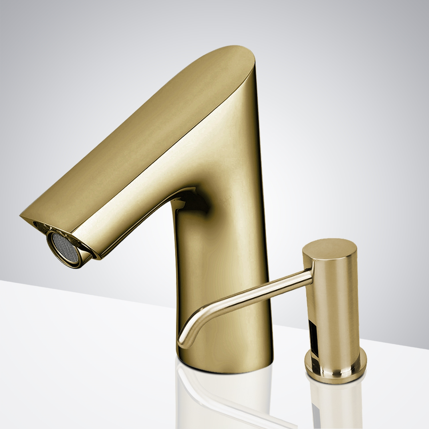 Fontana Geneva Motion Sensor Faucet & Automatic Soap Dispenser for Restrooms in Brushed Gold Finish