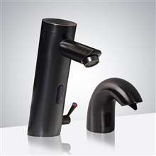 Fontana Creteil Motion Sensor Faucet & Automatic Soap Dispenser for Restrooms in Antique Bronze Finish