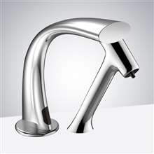 Fontana Chatou Chrome Finish Freestanding Automatic Commercial Sensor Faucet & Automatic Soap Dispenser