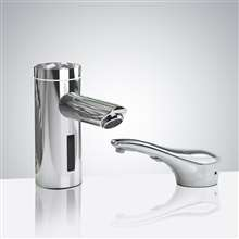 Fontana Lyon Motion Sensor Faucet & Automatic Soap Dispenser for Restrooms in Chrome Finish