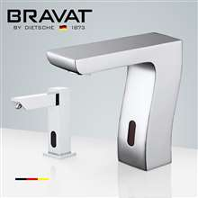 Fontana Valence Chrome Finish Motion Sensor Faucet & Automatic Soap Dispenser for Restrooms