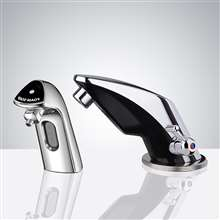 Fontana Le Havre Chrome Finish Motion Sensor Faucet & Automatic Soap Dispenser for Restrooms