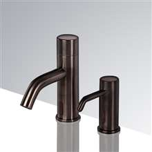 Fontana Creteil Motion Sensor Faucet & Automatic Soap Dispenser for Restrooms in Light Oil Rubbed Bronze