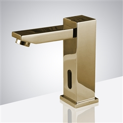 Fontana Verona Cold & Hot Gold Finish Touchless Bathroom Faucet