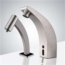 Fontana Cholet Motion Sensor Faucet & Automatic Soap Dispenser for Restrooms in Brushed Nickel Finish