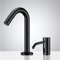 Fontana Marsala Dark Oil Rubbed Finish Motion Sensor Faucet & Automatic Soap Dispenser for Restrooms