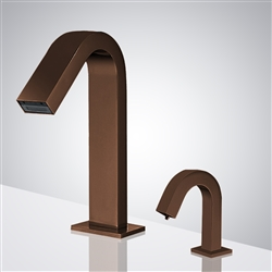 Fontana Deauville Light Oil Rubbed Bronze Motion Touchless Sensor Faucet & Automatic Soap Dispenser for Restrooms