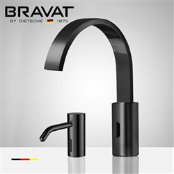 Fontana Melun Dark Oil Rubbed Bronze Touchless Motion Sensor Faucet, Automatic Liquid Soap Dispenser for Restrooms