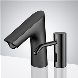 Fontana Geneva Oil Rubbed Bronze Touchless Motion Sensor Faucet & Automatic Soap Dispenser for Restrooms