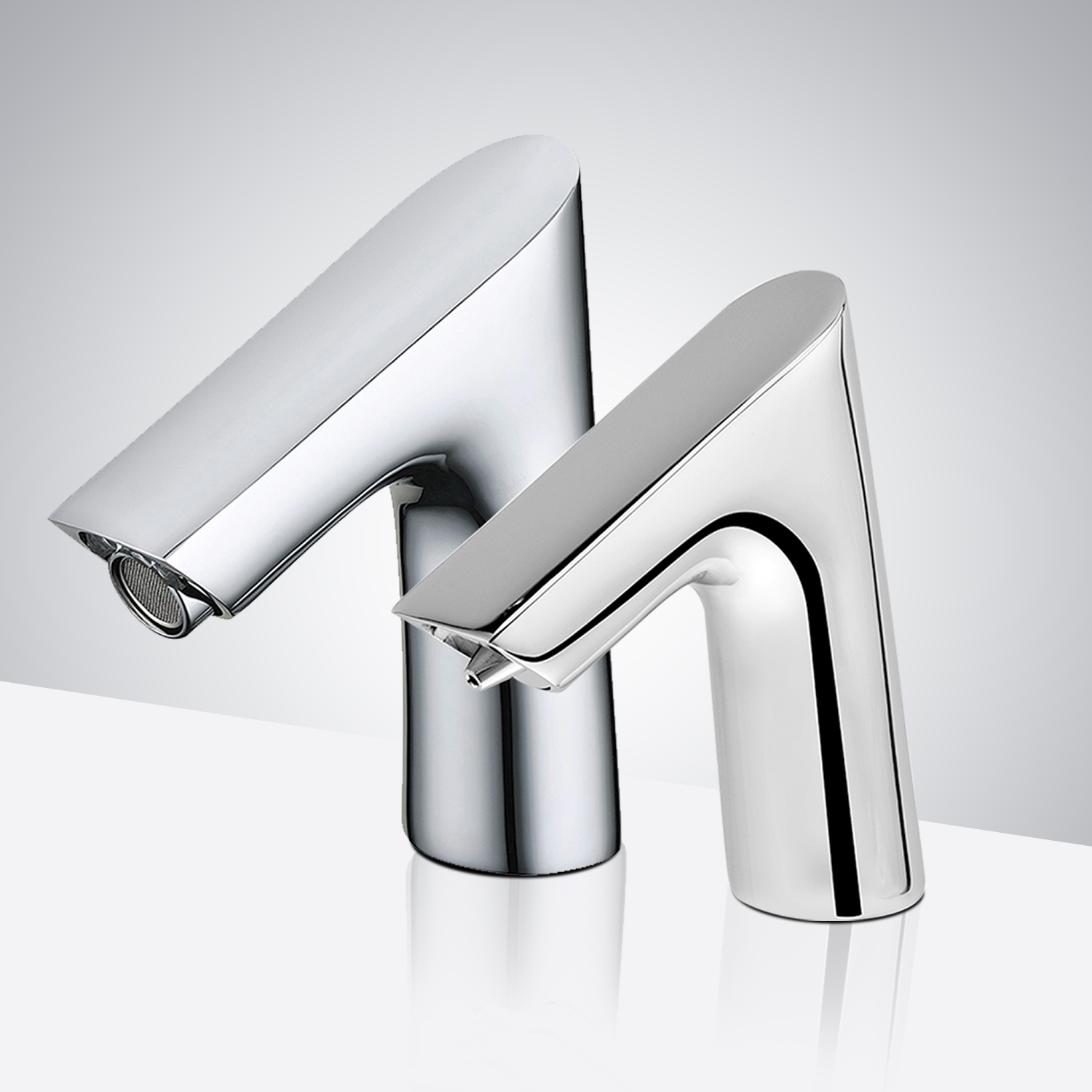 Fontana Dijon Commercial High Quality Touchless White Motion Sensor Faucet & Automatic Soap Dispenser for Restrooms