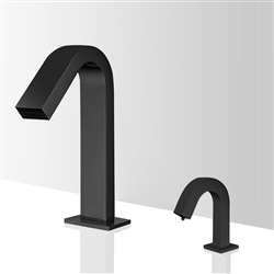 Fontana Valence Hands Free Commercial Motion Sensor Faucet & Automatic Touchless Soap Dispenser for Restrooms in Oil Rubbed Bronze Finish
