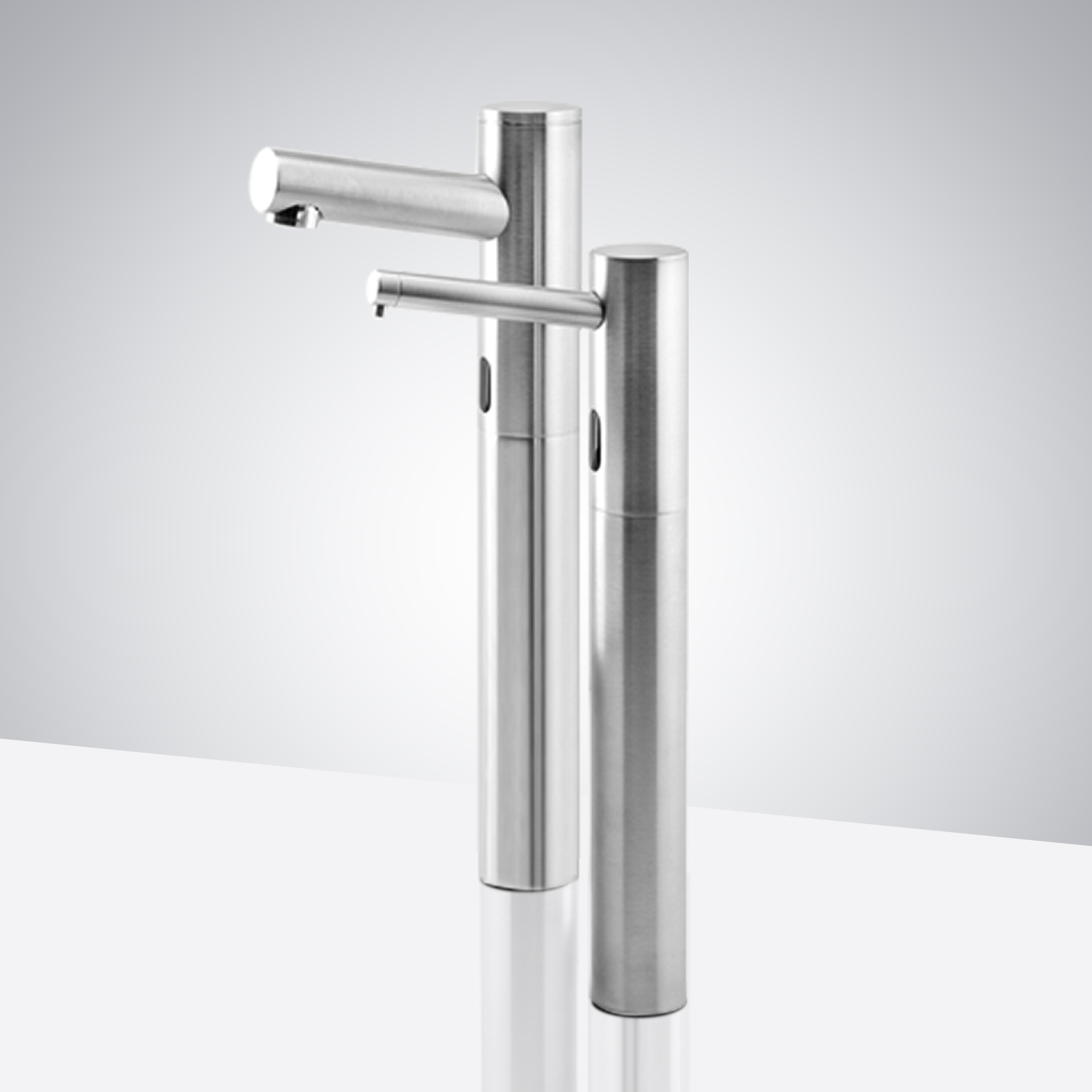 Fontana St. Gallen Tri Pod Chrome Finish Motion Sensor Faucet & Automatic Liquid Soap Dispenser for Restrooms