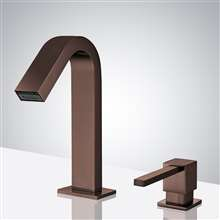 Fontana Marsala Oil Rubbed Bronze Touchless Motion Sensor Faucet & Automatic Deck Mount Liquid Foam Soap Dispenser for Restrooms