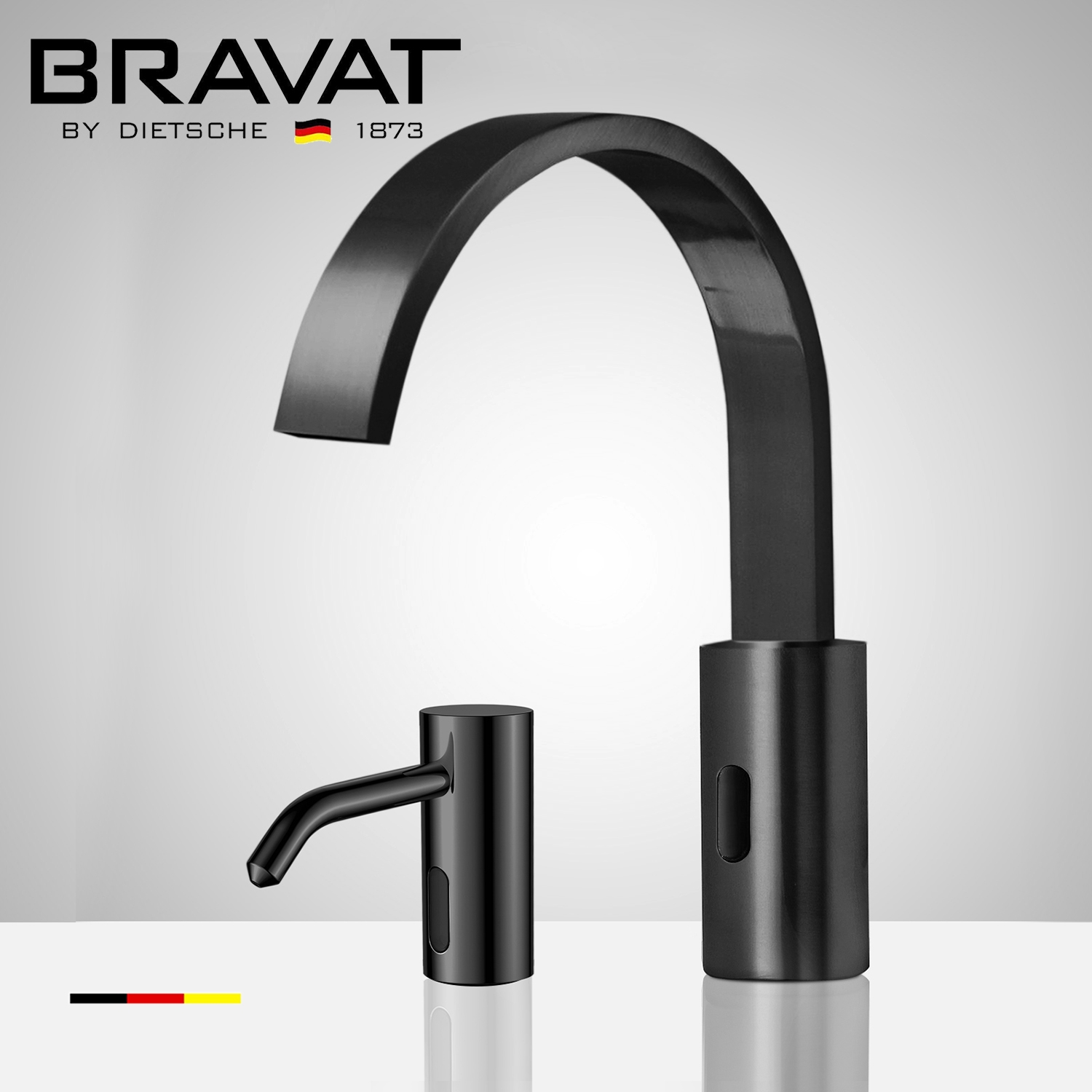 Fontana Dark Oil Rubbed Bronze Commercial Motion Sensor Faucet & Automatic Liquid Foam Soap Dispenser for Restrooms