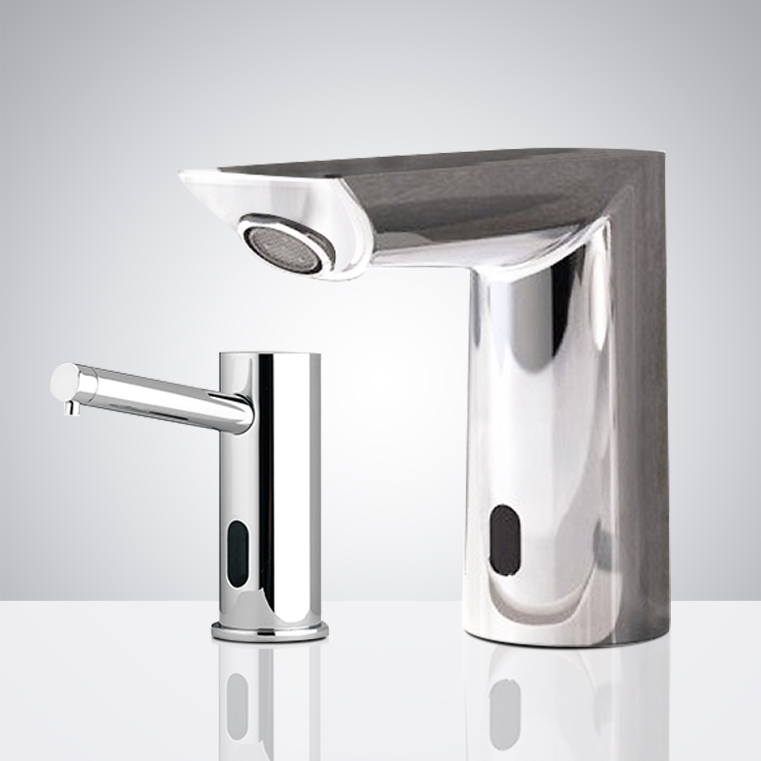 Fontana Cholet Commercial Infrared Motion Sensor Faucet & Automatic Soap Dispenser for Restrooms