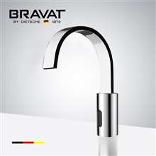 Bravat Commercial Automatic Chrome Finish Deck Mounted Motion Sensor Faucet