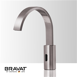 Bravat Commercial Automatic Brushed Nickel Finish Deck Mounted Motion Sensor Faucet