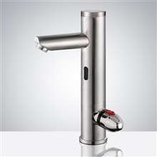 Fontana Brushed Nickel Commercial Temperature Control Automatic Sensor Faucet with Built-In Mixing Valve