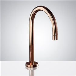 Fontana Chicago Commercial Rose Gold Stainless Steel Long Automatic Sensor Faucet
