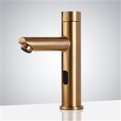 Fontana Commercial Gold Finish Touchless Automatic Sensor Faucet