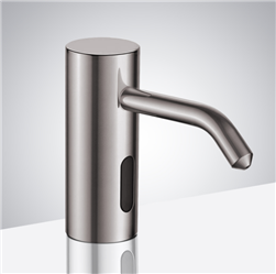 Fontana Trio Commercial Brushed Nickel Brass Deck Mount Automatic Sensor Liquid Soap Dispenser