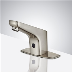Fontana Sierra Commercial High Quality Touchless Automatic Sensor Brushed Nickel  Sink Faucet