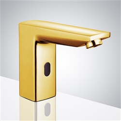 Fontana Chicago Yellow Gold Commercial Automatic Sensor Touchless Faucet