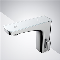 Fontana Reno Commercial Automatic Temperature Control Digital Temperature Display Hot and Cold Commercial Sensor Faucet