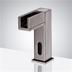 Fontana Brushed Nickel Contemporary Commercial Automatic Waterfall Sensor Faucet