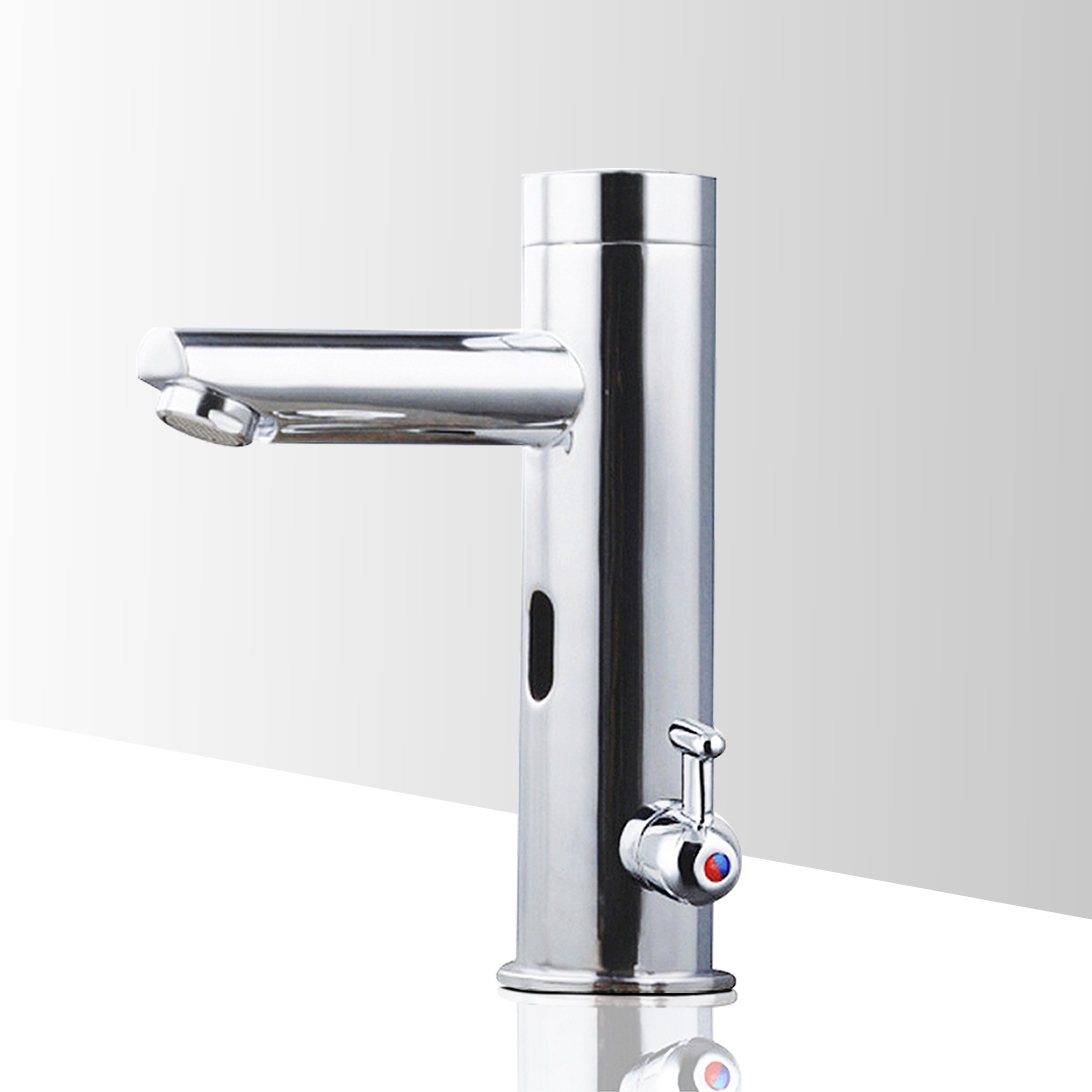 Fontana Chrome Commercial Temperature Control Automatic Sensor Faucet with Built-In Mixing Valve