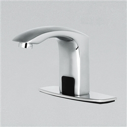 Fontana Commercial Contemporary Chrome Bathroom Automatic Sensor Faucet
