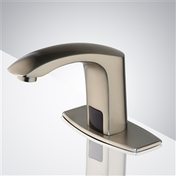 Fontana Commercial Contemporary Brushed Nickel Bathroom Automatic Sensor Faucet