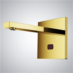 Fontana Commercial Wall Mount XT5 Gold Finish Automatic Sensor Faucet