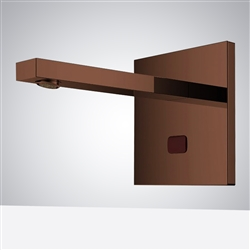 Fontana Commercial Wall Mount XT5 Light Oil Rubbed Bronze Automatic Sensor Faucet