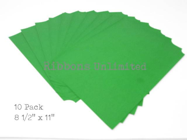 Carbon Paper 8 1/2 X 11 Green 10 Sheets