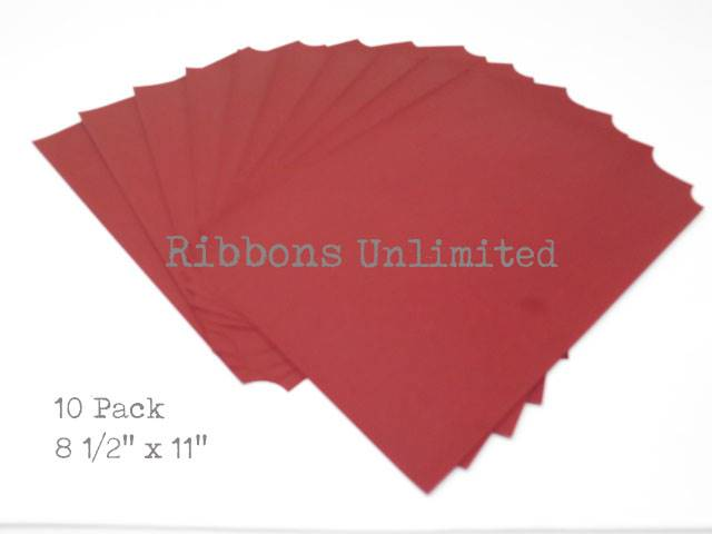 Carbon Paper 8 1/2 X 11 Red 10 Sheets