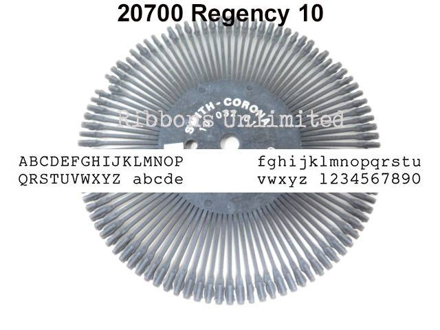 20700 Smith Corona H Regency 10 Printwheel
