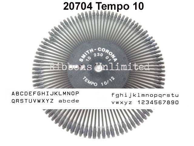 Smith Corona H Series Tempo 10 20704 Printwheel