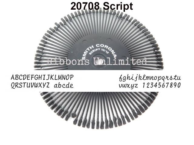 20708 Smith Corona H Series Script 12 Printwheel
