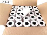 2 1/4 X 2 1/4 90 feet 1-Ply Paper Rolls 50 CT