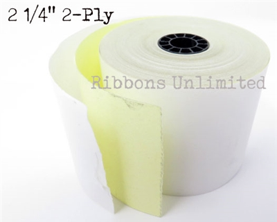 22160 I 2 1/4X2Ply White Canary Paper Roll